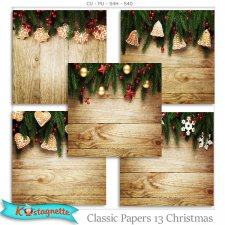 Classic papers 13 Christmas by Kastagnette