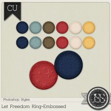 Let Freedom Ring Embossed PS Styles by Just So Scrappy