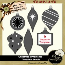 Christmas Ornaments TEMPLATE BUNDLE by Boop Designs