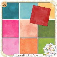 Spring Bliss Solid Papers EXCLUSIVE by Papierstudio Silke