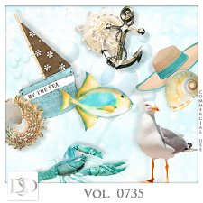 Vol. 0735 Summer Sea Mix by D's Design