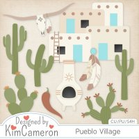 Pueblo Village Templates by Kim Cameron