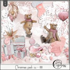 Christmas pack CU - 85 to 88 by Cajoline-Scrap