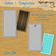Notes 1 Templates by Mandog Scraps