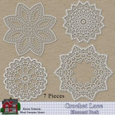 Crochet Lace Element Pack by Karen Stimson