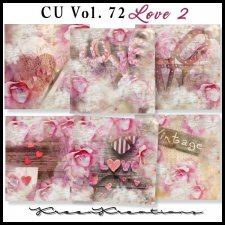 CU Vol. 72 Papers Pack Love 2 by Kreen Kreations