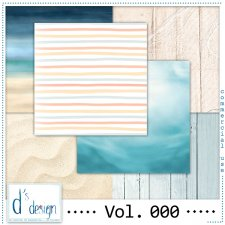 Vol. 000 - Beach papers - by Doudou's Design