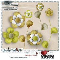 Serenity Actions - Flower Combo: Actions, Templates & Embellishments