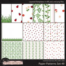 EXCLUSIVE Layered Paper Patterns Templates Set 49 by NewE Designz