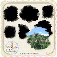 Sundry Photo Masks - Paint & Texture effects EXCLUSIVE by PapierStudio Silke
