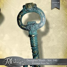 Designer Stash Vol. 146 - Vintage Keys No. 1 by Feli Designs