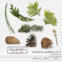 Cones & Conifers Vol. 2 by Lara�s Digi World