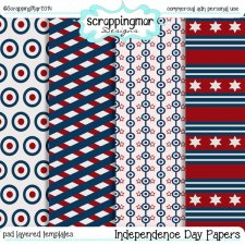 Independence Day Papers Templates by ScrapingMar