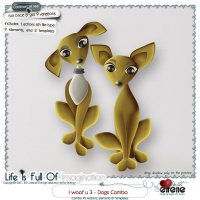 I Woof U 3-Dog Combo: Actions, Templates & Embellishments