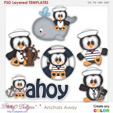 Anchors Away Layered Element Templates
