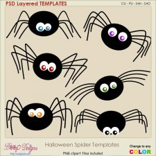 Halloween Spider Layered TEMPLATES