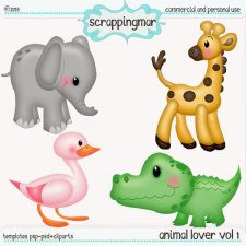 Animal Lover Vol1 Template - Clipart by ScrapingMar