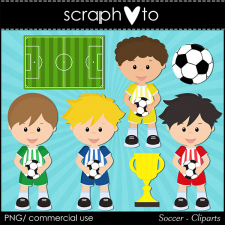 Soccer Cliparts by Scraphoto Studio