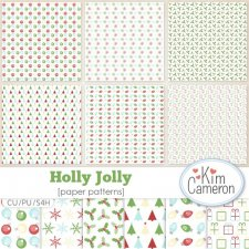 Holly Jolly Pattern Templates by Kim Cameron