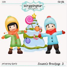 Seasons Greetings 3 Template - Clipart by ScrapingMar