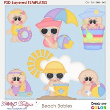 Beach Babies Layered Element Templates
