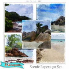 Scenic Papers 30 Sea by Kastagnette