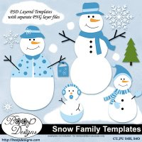 Snow Family TEMPLATES by Boop Designs