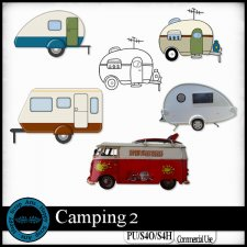 Camping 2 Elements by Happy Scrap Art