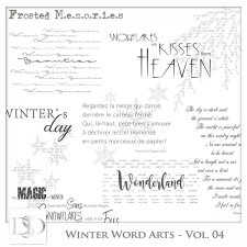 Winter Word Arts Vol 04 by D's Design