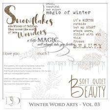 Winter Word Arts Vol 03 by D's Design