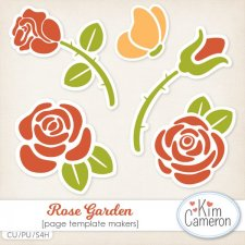 Rose Garden Templates by Kim Cameron