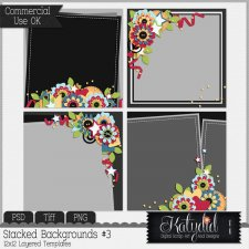Stacked Backgrounds Layered Templates Pack No 3