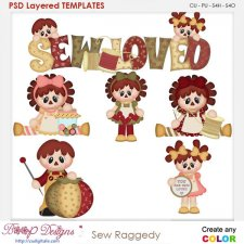 Sew Raggedy Layered Element Templates