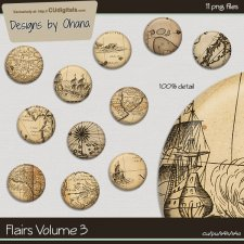 Flairs Vol 3 - Vintage Map - EXCLUSIVE Designs by Ohana