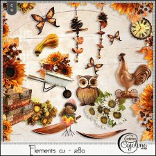 Elements CU - 280 Autumn mix 13 by Cajoline-Scrap