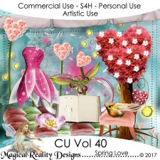 Spring Love - CU Vol 40 by MagicalReality Designs