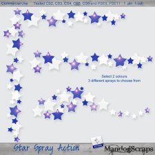 Star Spray Action by Mandog Scraps
