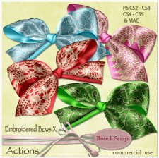 Action - Embroidered Bows X by Rose.li