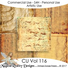 Vintage/Grunge Papers CU Vol 116 by MagicalReality Designs