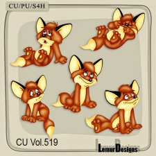 CU Vol 519 Fox Animal Elements by Lemur Designs