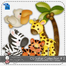 Safari Collection Layered Template 2 by Peek a Boo Designs