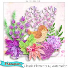 Classic Elements 14 Watercolor by Kastagnette