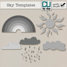 Spring Sky Templates - CUbyDay EXCLUSIVE