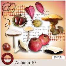 Autumn 10 elements by Happy Scrap Arts
