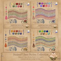 Stained Glass Styles Collection CU - S4H by SnickerdoodleDesigns