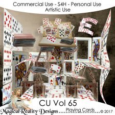 Playing Cards - CU Vol 65 by MagicalReality Designs