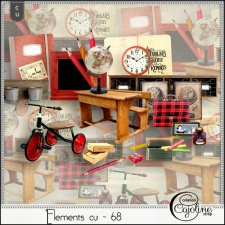 Elements CU 65 to 70 Back to school by Cajoline-Scrap