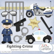 Fighting Crime Templates by Kim Cameron