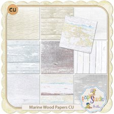 Marine Wood Paper Pack EXCLUSIVE by PapierStudio Silke