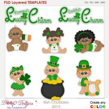 Irish St. Patrick's Day Chubbies Layered Element Templates